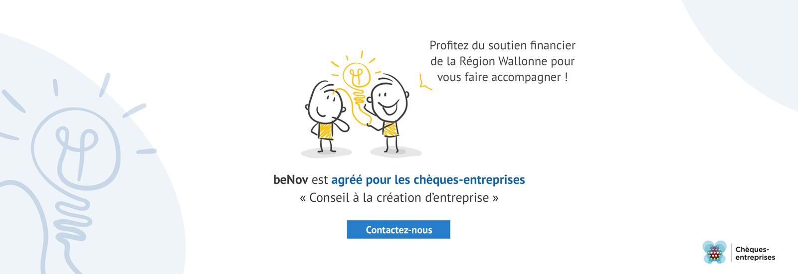 beNov - Sébastien Legrain | Chèques-entreprises - Conseil à la création d'entreprise
